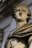 The look. Photo of an old sculpture at the entrance to the Deutsches Historisches Museum in Berlin Stock Image