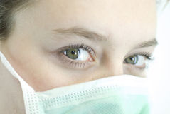 Look. Female doctor eyes close up Stock Image