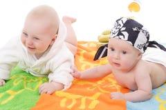 Look. Beautiful litle babyes. Travel  background Stock Photography