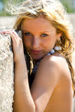 Look. Portrait of young girl, summer vocation Stock Photo