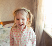 Look adorable little girl. Portrait of a cute little girl Royalty Free Stock Images