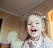 Look adorable little girl. Portrait of a cute little girl Stock Photography
