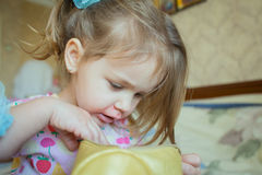 Look adorable little girl. Portrait of a cute little girl Royalty Free Stock Image