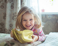 Look adorable little girl. Portrait of a cute little girl Royalty Free Stock Photography