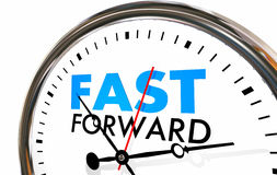 Look Ahead futuro delantero rápido del tiempo de reloj stock de ilustración