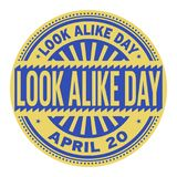 Look Alike Day stamp. Look Alike Day, April 20, rubber stamp, vector Illustration Stock Photography