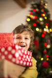 Look at all my presents! Stock Photos