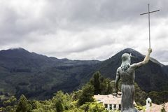 A look at the Andes from atop Monserrate Royalty Free Stock Image