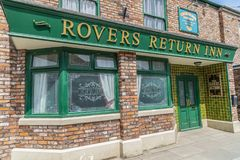 A look around the new working Coronation Street Set royalty free stock photo