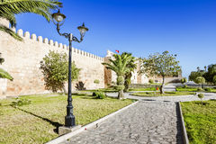 Look At The Wall Of The Castle Kasbah In Sousse Tunisia. Royalty Free Stock Photo