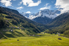 Look into the Bachertal valley Royalty Free Stock Photography