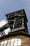 Look from the basement on the Vitkovice mining tower Royalty Free Stock Photography
