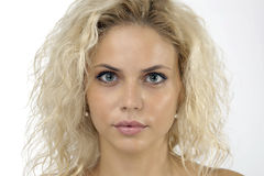 Look Beautiful Woman With Blond Hair Stock Photo