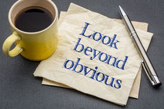 Look beyond obvious reminder royalty free stock photography