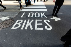 Look Bikes Sign Chicago Royalty Free Stock Photography