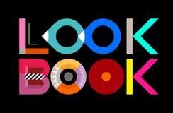 Look Book. Lookbook, look book - vector decorative text architecture vector illustration