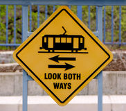 Look Both Ways Stock Photo