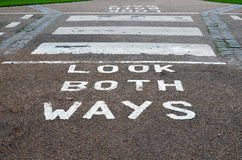 Look both ways. Royalty Free Stock Image
