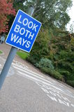 Look both ways. Royalty Free Stock Photos