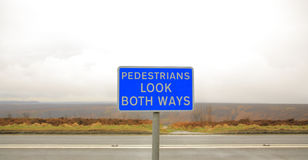 Look both ways sign Stock Photo