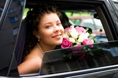 Look of bride Royalty Free Stock Image