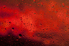 Look at the bright red fire through the glass Royalty Free Stock Photo