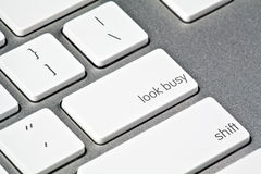 Look Busy Button Royalty Free Stock Photo