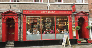A Look at Cafe Rouge, York, England stock images