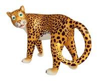 Look at camera Leopard cartoon character Stock Image