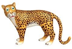 Look at camera Leopard cartoon character Royalty Free Stock Images