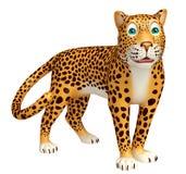 Look at camera Leopard cartoon character Royalty Free Stock Photo
