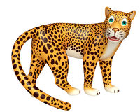 Look at camera Leopard cartoon character Stock Images