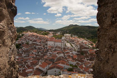 Look at Castelo de Vide from the castle Royalty Free Stock Photography