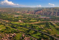 Look at China from airborne ,Earth,Farmland Royalty Free Stock Photo