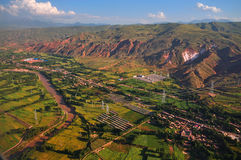 Look at China from airborne ,Earth,Farmland Stock Photography