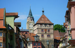 Look in the city center of Rottweil Royalty Free Stock Photo