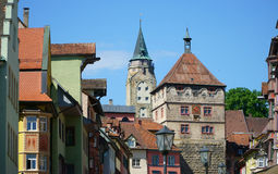 Look in the city center of Rottweil Stock Images