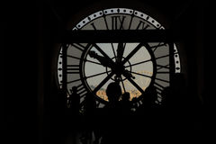 Look through the clock as a window in d`Orsay museum royalty free stock images