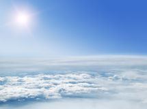 Look at the clouds and the Sun from a height Royalty Free Stock Photography