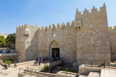 Look at the Damascus Gate in Jerusalem Royalty Free Stock Images