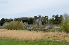 A Look at Desmond Castle with a Hay Field Royalty Free Stock Photo