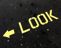 Look direction arrow Stock Photos