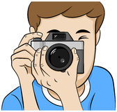 Look directly into the camera of a photographer Stock Photography