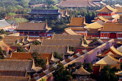 Look down at the Forbidden City. royalty free stock images