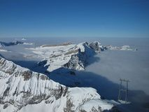 Look Down From The Titlis. Stock Image