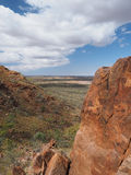 Look down over the outback from the slopes of Mount Gillen Stock Photos