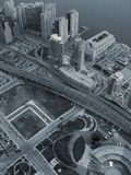 Look down at the town (2). Downtown Toronto, Canada Royalty Free Stock Images
