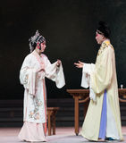 """look at each other-The third act Male Yellow Wine-Kunqu Opera""""Madame White Snake"""" Royalty Free Stock Photos"""