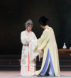 """Look at each other-The third act Male Yellow Wine-Kunqu Opera""""Madame White Snake"""" Stock Photo"""