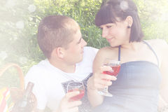 Look at each other,vintage Royalty Free Stock Photography